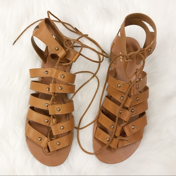 7d8cb0dcdbe895 Lulu s Shoes - Lulu s Outlying Lands Camel Gladiator Sandals